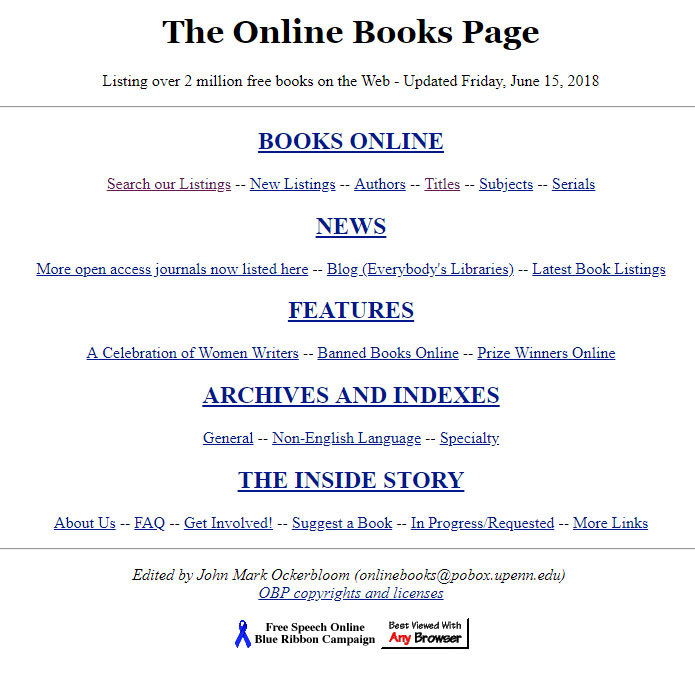 The-Online-Books-Page
