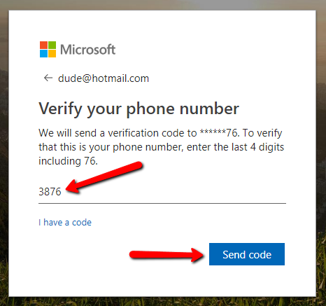 verify-phone-number-hotmail
