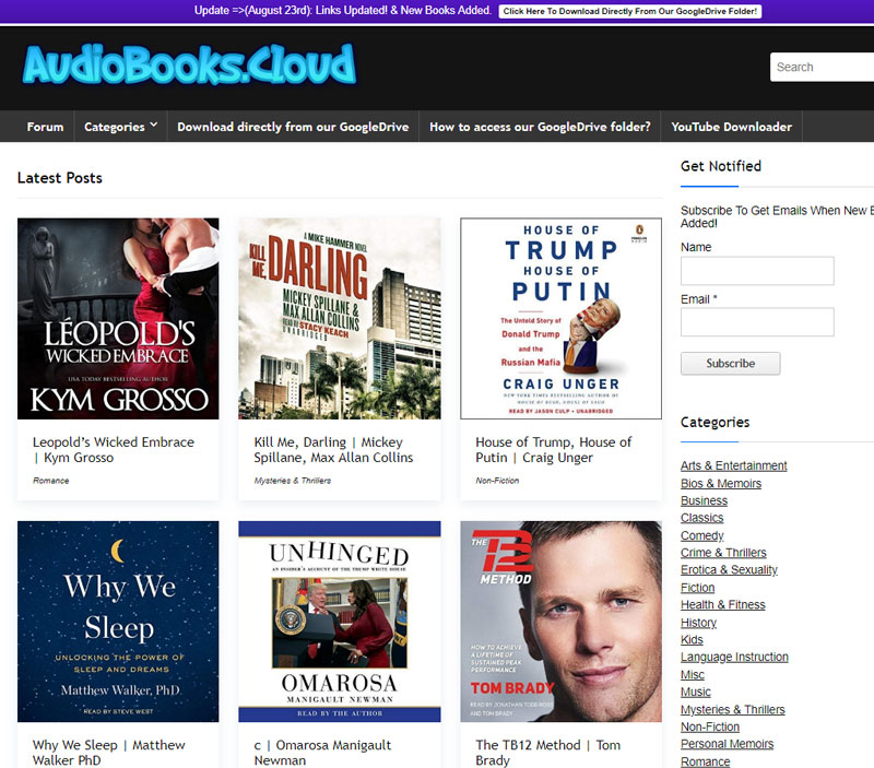 audiobooks cloud
