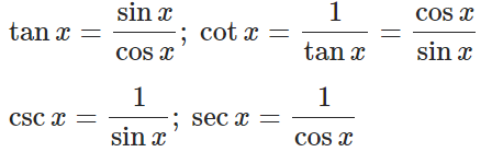 Reciprocal (Definition) Identities